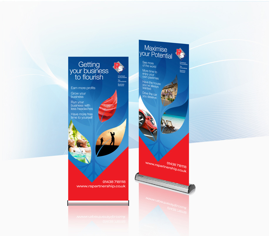 RS Partnership pull-up banners