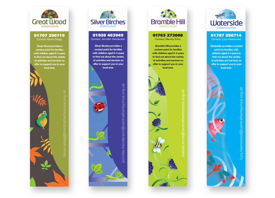 YMCA promotional merchandise/bookmarks