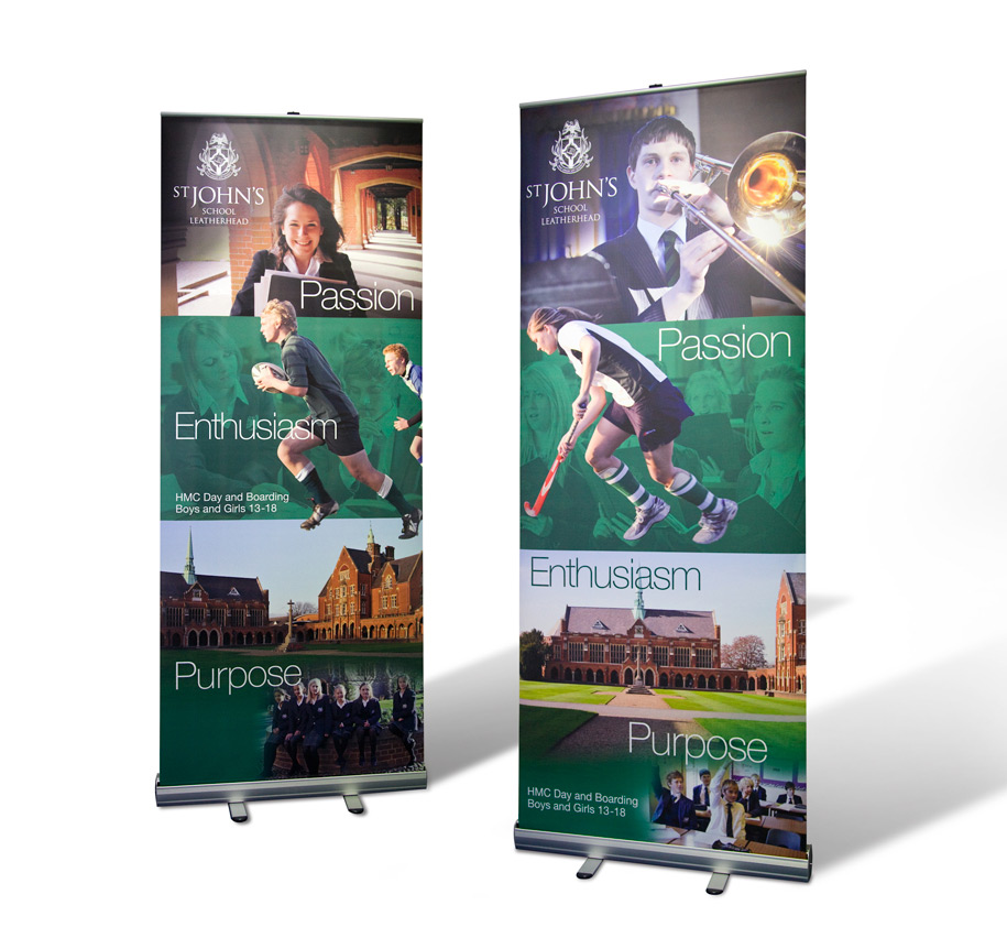 St John's pull-up banners