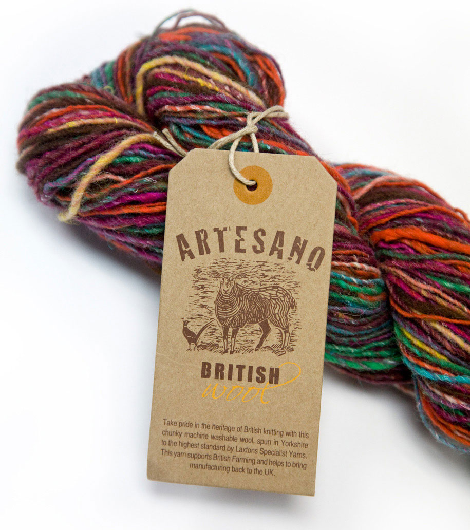 Artesano British Wool label